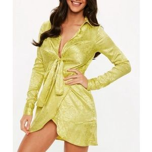 Green Wrap Dress from Missguided